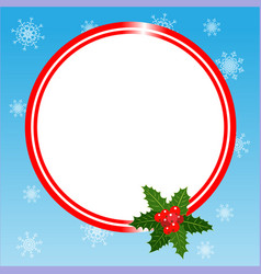 round christmas frame card template vector image