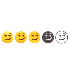 Smirking emoji vector