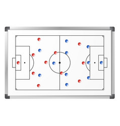 Soccer game tactical scheme vector