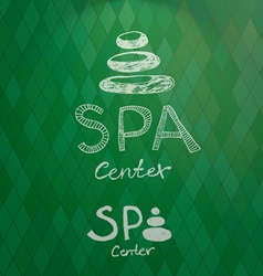 Spa center hand drawn logo vector