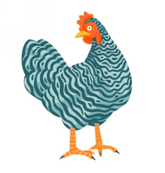 Speckled chicken funny vector