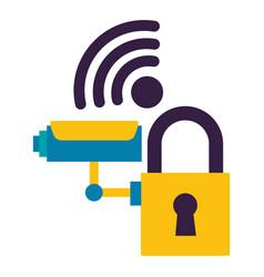 surveillance camera security internet vector image