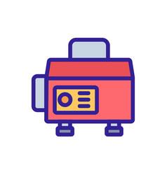Sustainable generator to provide electrics icon vector