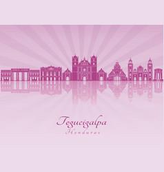 Tegucigalpa skyline in purple radiant orchid vector