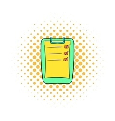 To do list icon comics style vector image