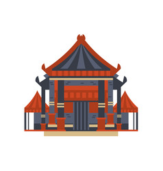 traditional asian pagoda building vector image