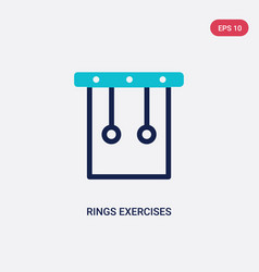 two color rings exercises icon from gym and vector image