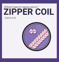 Vaping coil part of big set vector