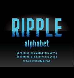 Water ripple font vector