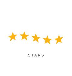 waving five stars rating symbol vector image