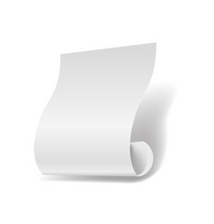 White paper sheet 3d realistic page or manuscript vector