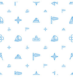 Wind icons pattern seamless white background vector