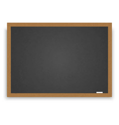 wooden blackboard for your design vector image