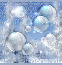 Blue abstract bubbles background vector image vector image