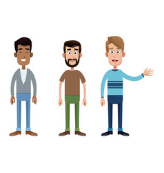 group father male family vector image