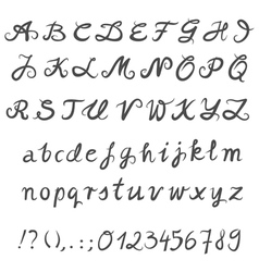 Hand drawn font set vector image