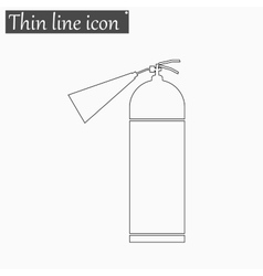 fire extinguisher icon Style thin line vector image vector image