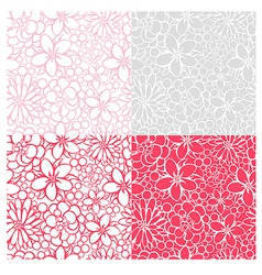 flowers patterns vector image vector image