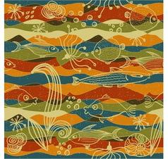 modern fish pattern vector image vector image