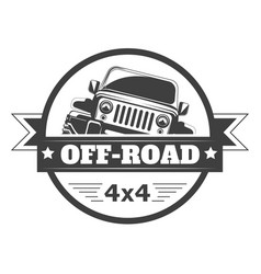 off-road 4x4 extreme car club logo template vector image