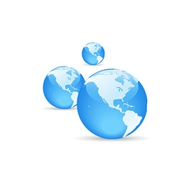 shiny globe with shadow vector image vector image