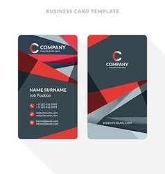 Doublesided Business Card Template With Vector Image - Two sided business card template