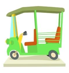 Asian taxi icon cartoon style vector image