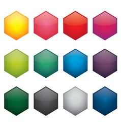 button candy jewel vector image vector image