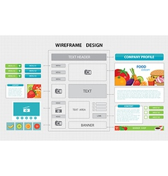 flat website wireframe template vector image