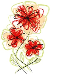 flowers hand made vector image vector image