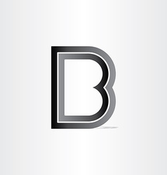 letter b black icon vector image