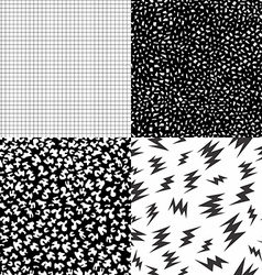 80s retro memphis pattern set with geometric shape vector image vector image