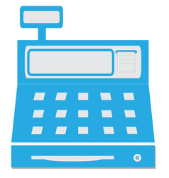 cash register with a digital display vector image vector image