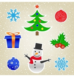 Christmas and New Year card collection vector image vector image