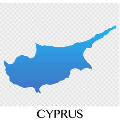 cyprus map in europe continent design vector image vector image