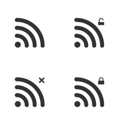 Set Of Wi-Fi And Wireless Icons WiFi Zone Sign vector image vector image