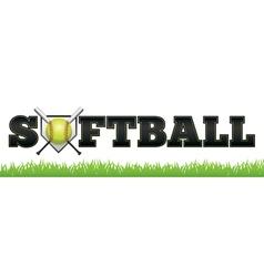 Softball Word vector image vector image