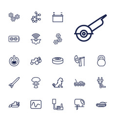 22 power icons vector