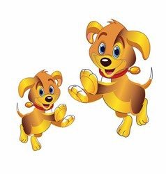 3D cartoon dog clipart vector image