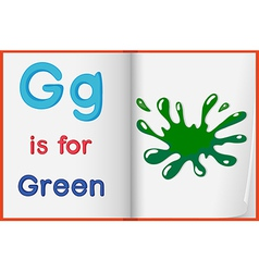 A picture of green splash in book vector