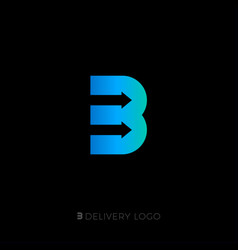 b monogram b delivery service logo vector image