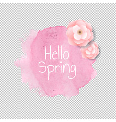 banner blob with flowers transparent background vector image