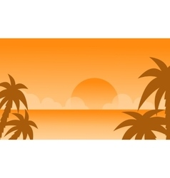 Beautiful at sunset on the beach vector image