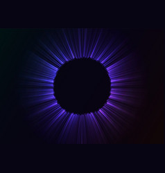 Black hole in abstract blue background vector