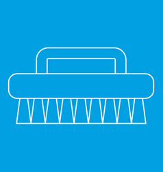 Brush for cleaning icon outline style vector