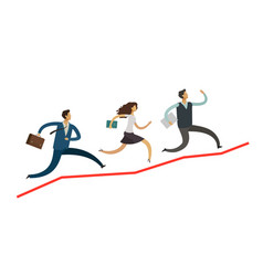 business people run up the arrow career success vector image