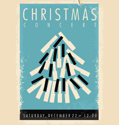 christmas concert retro poster design idea vector image