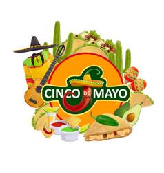 cinco de mayo mexican fiesta holiday vector image