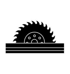 Circular blade saw vector
