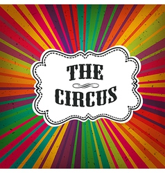 Circus retro rays vector